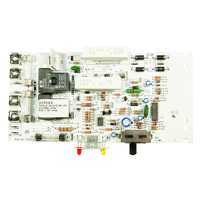 Product Photo of CB-029283 - Emergi-Lite/Lumacell 24V 350-720W Front Fuse Charger Board
