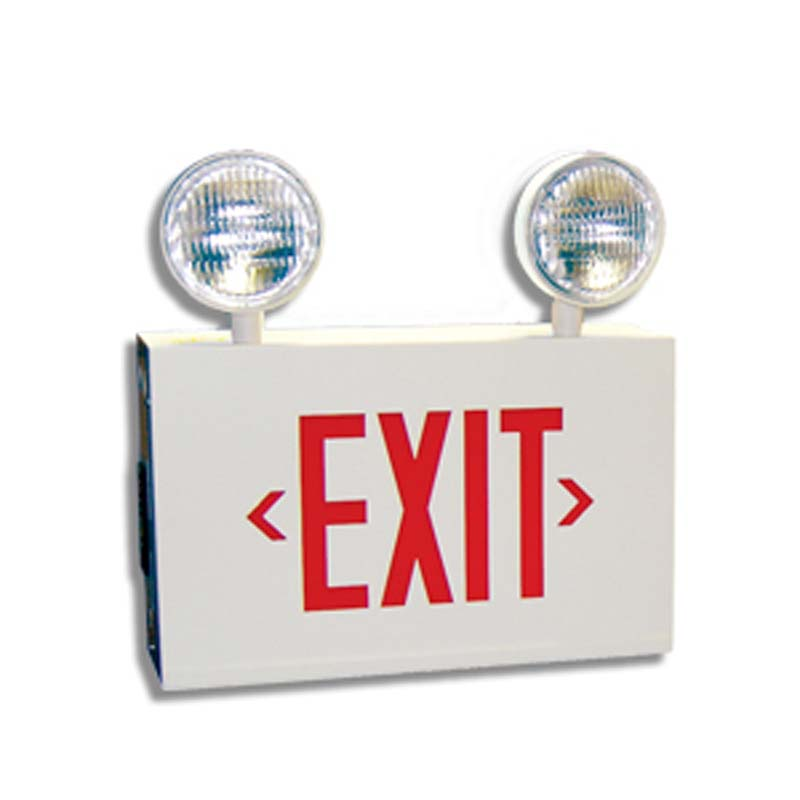 Product Photo of 12ESLEX-RG12SE-Series - Emergi-Lite/Lumacell 12V Exit/Emergency Lighting Combination units - STEEL -starts at 110w