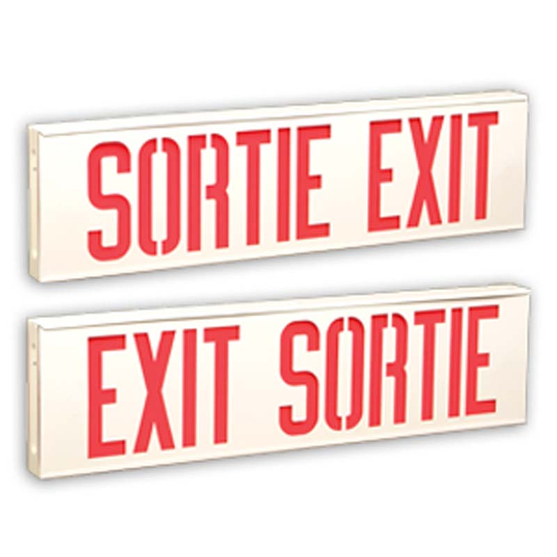 Product Photo of C8ES10-LMCEB6L-Series - Emergi-Lite/Lumacell BILINGUAL Exit/Sortie sign - Steel