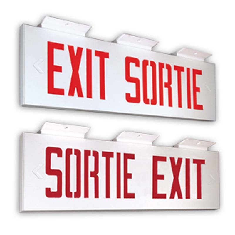 Photo of C8ES300 Series - Emergi-Lite BILINGUAL Exit/Sortie sign-EDGE-LIT-extruded aluminum