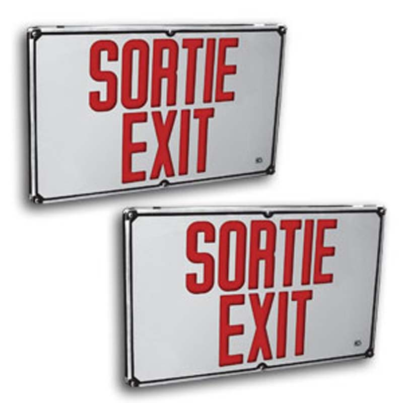 Product Photo of C8ESPK-LEREOB12L-Series - Emergi-Lite/Lumacell BILINGUAL Exit/Sortie sign - NEMA34-DUST TIGHT
