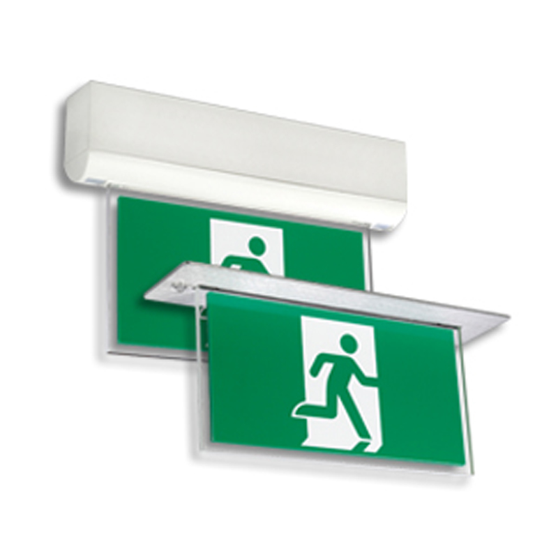 Product Photo of EDE-LDE-Series - Emergi-Lite/Lumacell Running Man/Pictogram Sign - Edge-lit-Recessed or Flushed Mount