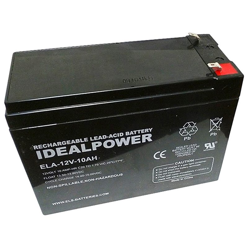 Photo of ELA-12V-10AH - IDEALPOWER 12V 10AH SEALED LEAD ACID BATTERY