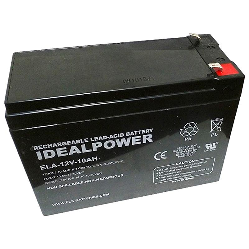 Product Photo of ELA-12V-10AH - IDEALPOWER 12V 10AH SEALED LEAD ACID BATTERY