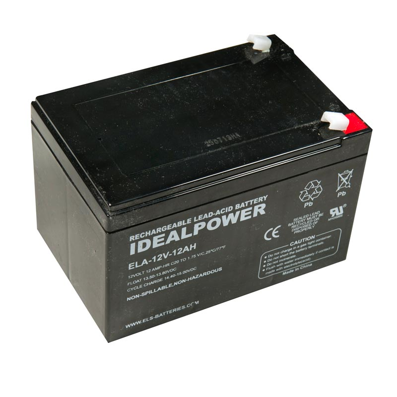 Photo of ELA-12V-12AH - IDEALPOWER 12V 12AH SEALED LEAD ACID BATTERY