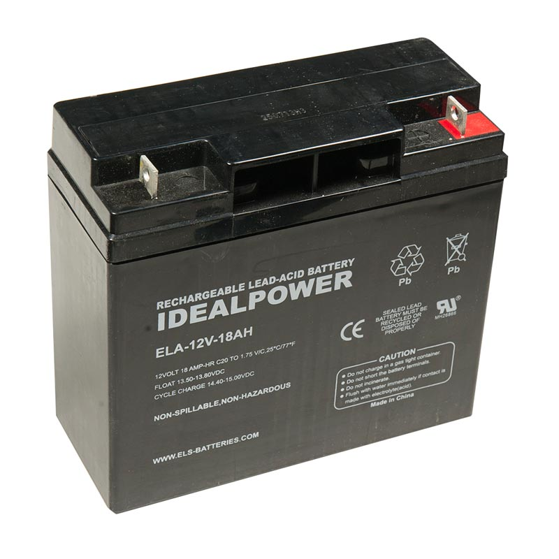 Photo of ELA-12V-18AH - IDEALPOWER 12V 18AH SEALED LEAD ACID BATTERY