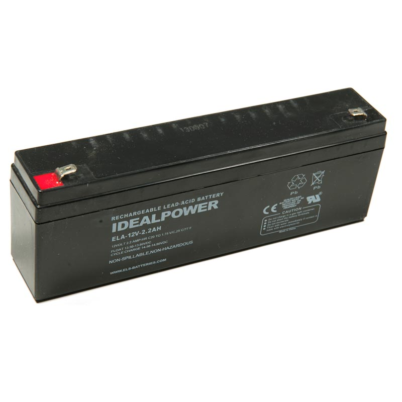 Product Photo of ELA-12V-2.2AH - IDEALPOWER 12V 2.2AH SEALED LEAD ACID BATTERY