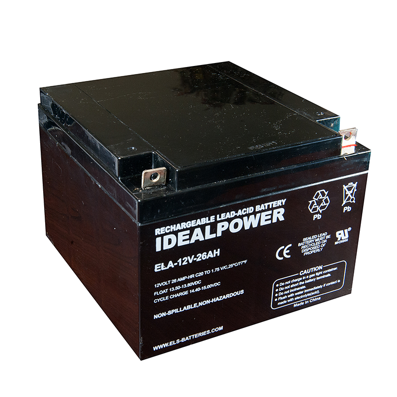 Product Photo of ELA-12V-26AH - IDEALPOWER 12V 26AH SEALED LEAD ACID BATTERY