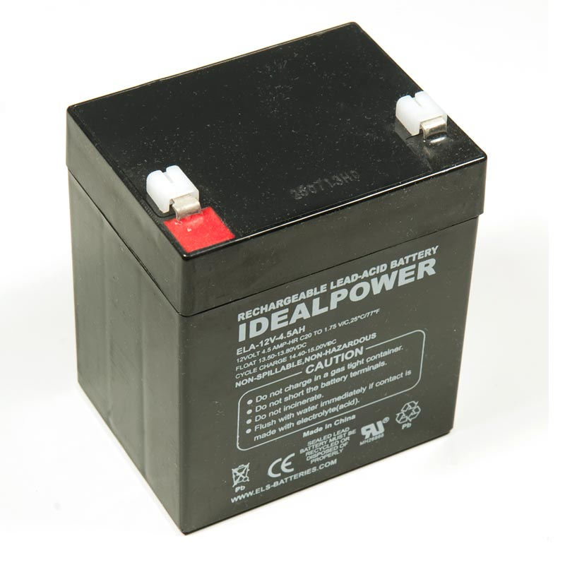 idealpower ela 12v 4 5ah sealed lead acid battery. Black Bedroom Furniture Sets. Home Design Ideas