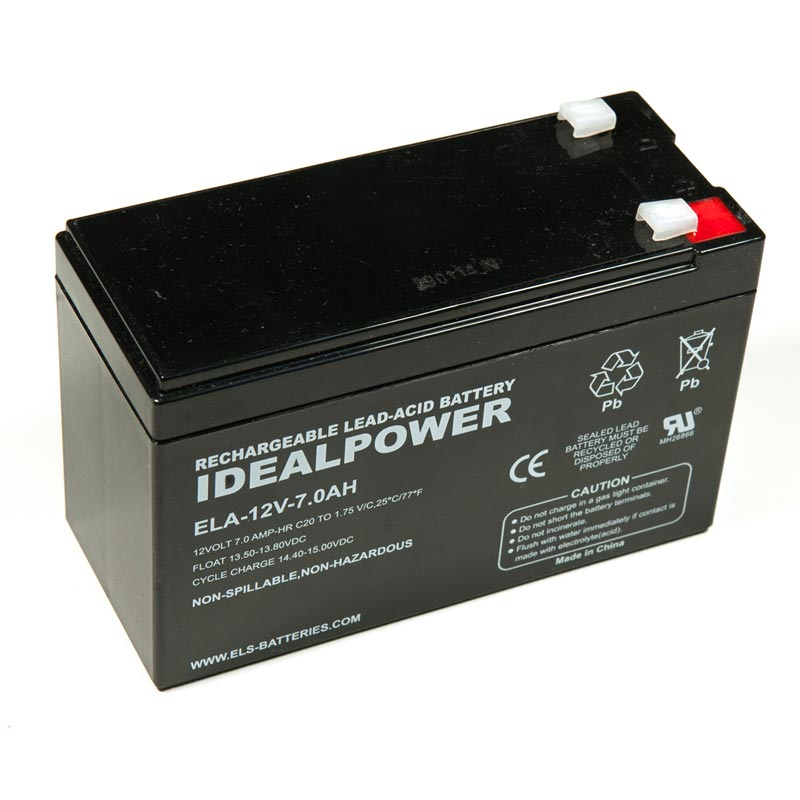 Product Photo of ELA-12V-7.0AH - IDEALPOWER 12V 7.0AH SEALED LEAD ACID BATTERY