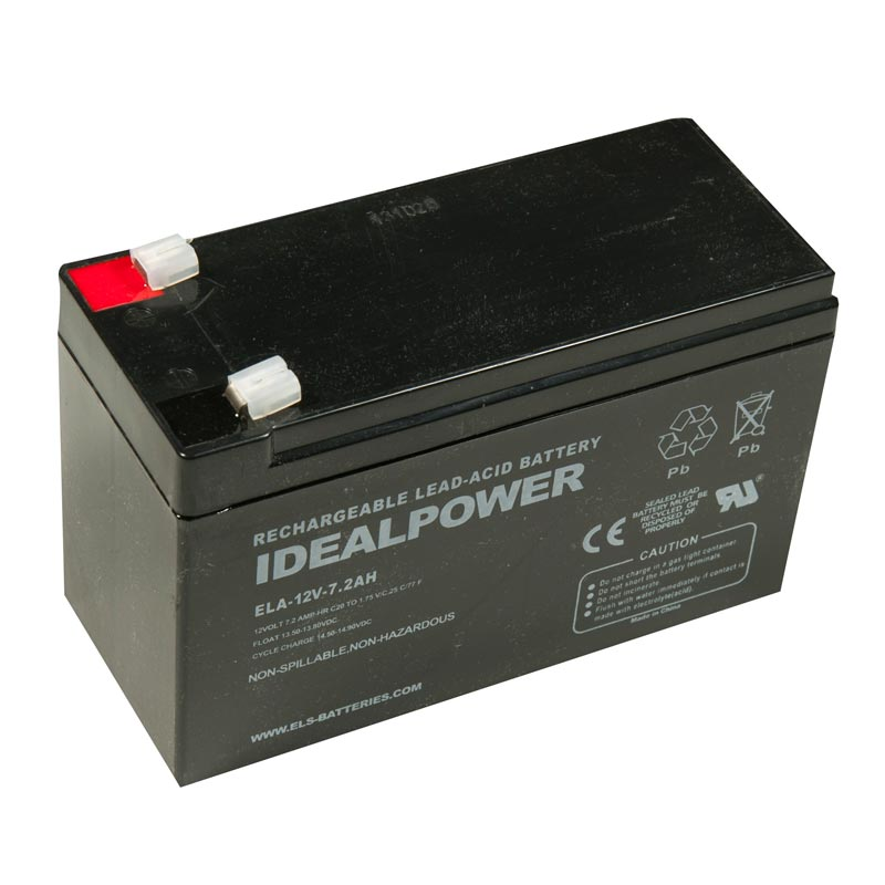Product Photo of ELA-12V-7.2AH - IDEALPOWER 12V 7.2AH SEALED LEAD ACID BATTERY