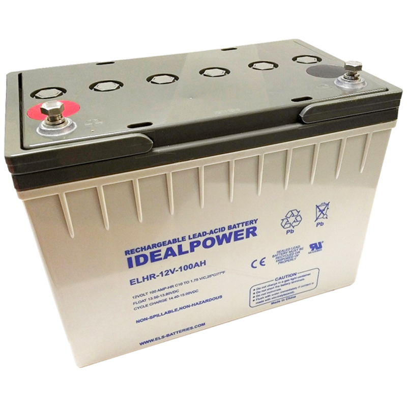 Product Photo of ELHR-12V-100AH - IDEALPOWER 12V 100AH SEALED LEAD ACID BATTERY