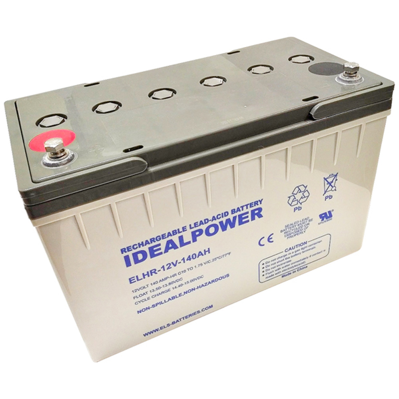 Product Photo of ELHR-12V-140AH - IDEALPOWER 12V 140AH SEALED LEAD ACID BATTERY