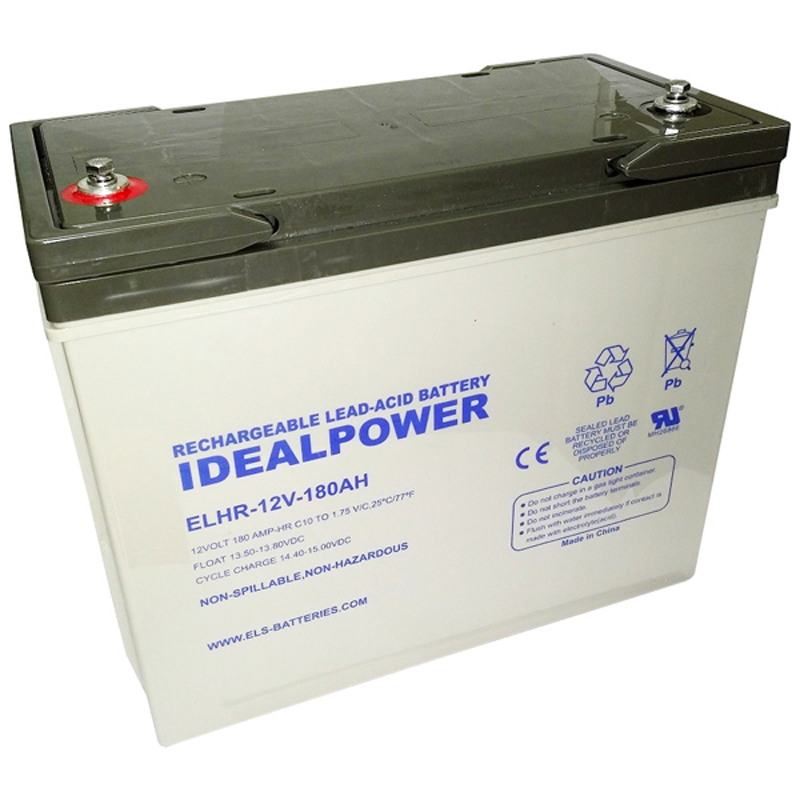 Product Photo of ELHR-12V-180AH - IDEALPOWER 12V 180AH SEALED LEAD ACID BATTERY