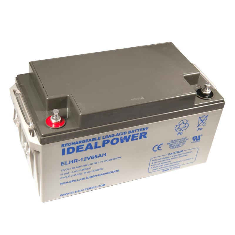 Photo of ELHR-12V-65AH - IDEALPOWER 12V 65AH SEALED LEAD ACID BATTERY