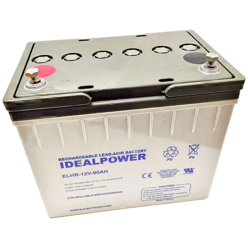 Product Photo of ELHR-12V-90AH - IDEALPOWER 12V 90AH SEALED LEAD ACID BATTERY