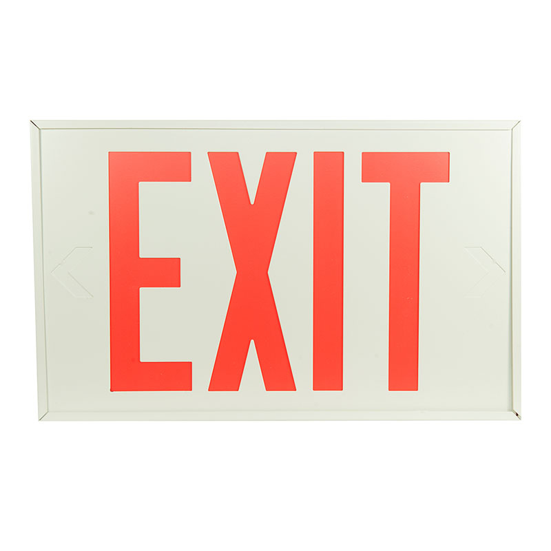 Product Photo of EX10W-EM120-4W - Emergi-Lite/Lumacell Exit sign- Steel, 120VDC-4WIRE