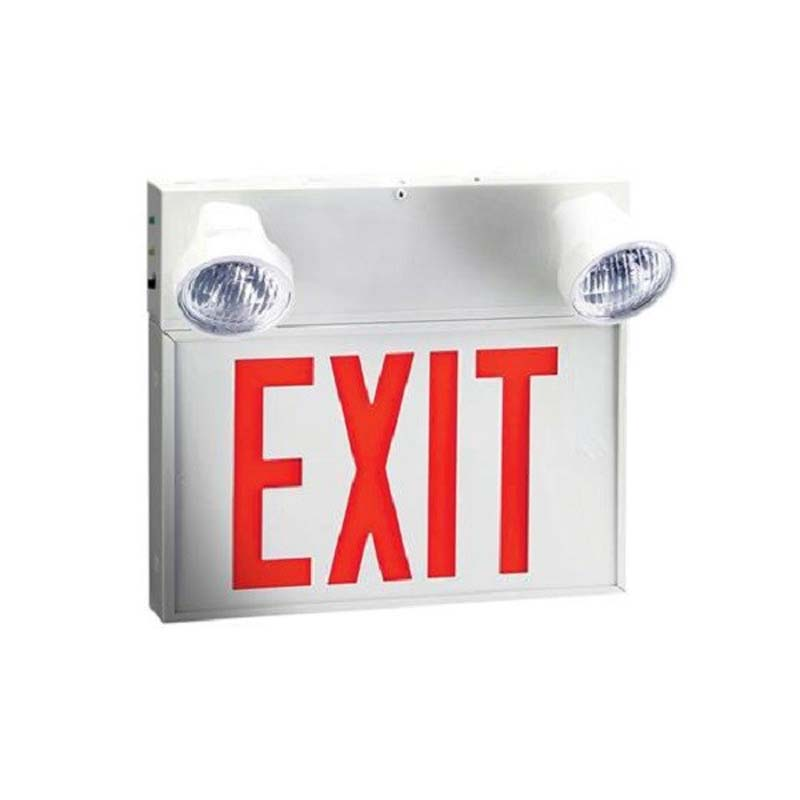 Photo of EX10W-P-2M - Emergi-Lite/Lumacell 6V 28w Exit/Emergency Lighting Combination units - STEEL