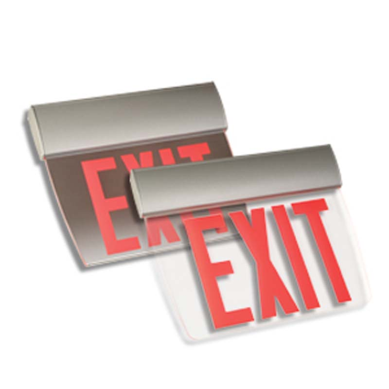 Photo of EX3-LER23-Series - Emergi-Lite/Lumacell Exit sign -Aluminum EDGE-LIT