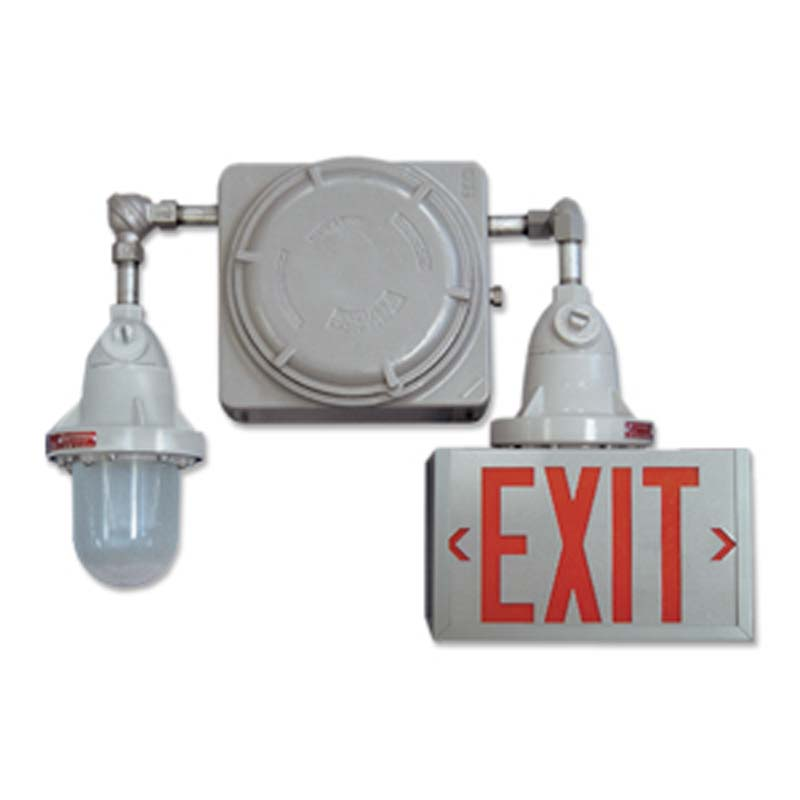 Product Photo of EXP-RGX-Combo - Emergi-Lite/Lumacell Exit/Emergency Lighting Combination- HAZARDOUS