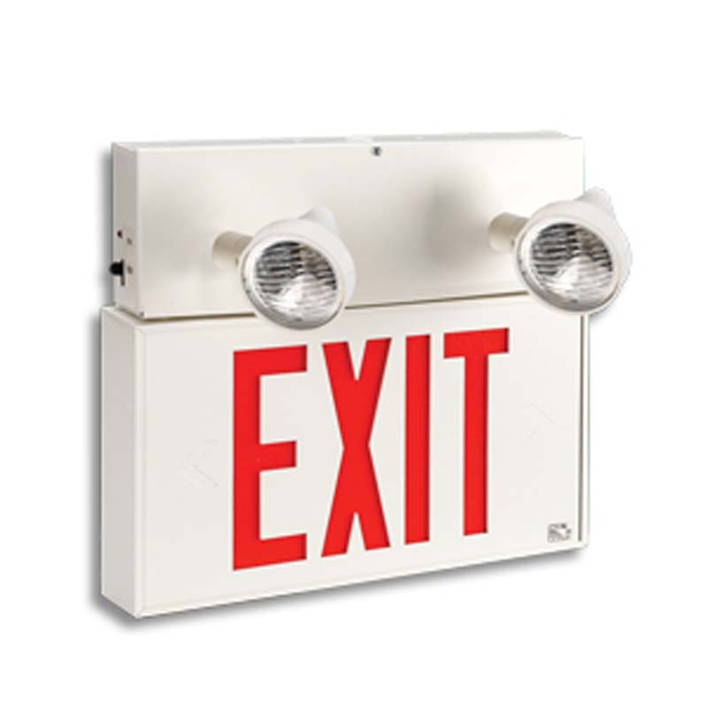 Product Photo of LPEX50P-3LER400-Series - Emergi-Lite/Lumacell Exit/Emergency Lighting Combination- EXTRUDED ALUMINUM