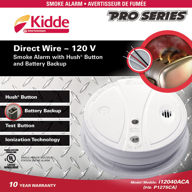 Photo of KIDDE-P1275CA - Kidde P1275CA Smoke Alarm 120VAC W/BBU