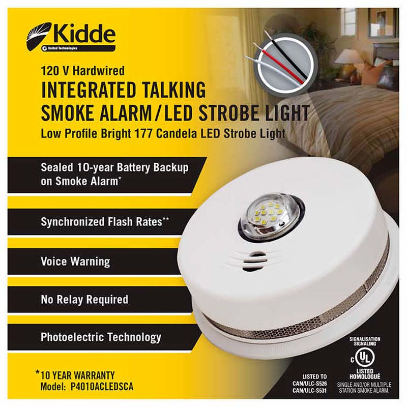 Photo of KIDDE-P4010ACLEDSCA - Kidde P4010ACLEDSCA 120V Smoke Strobe Light