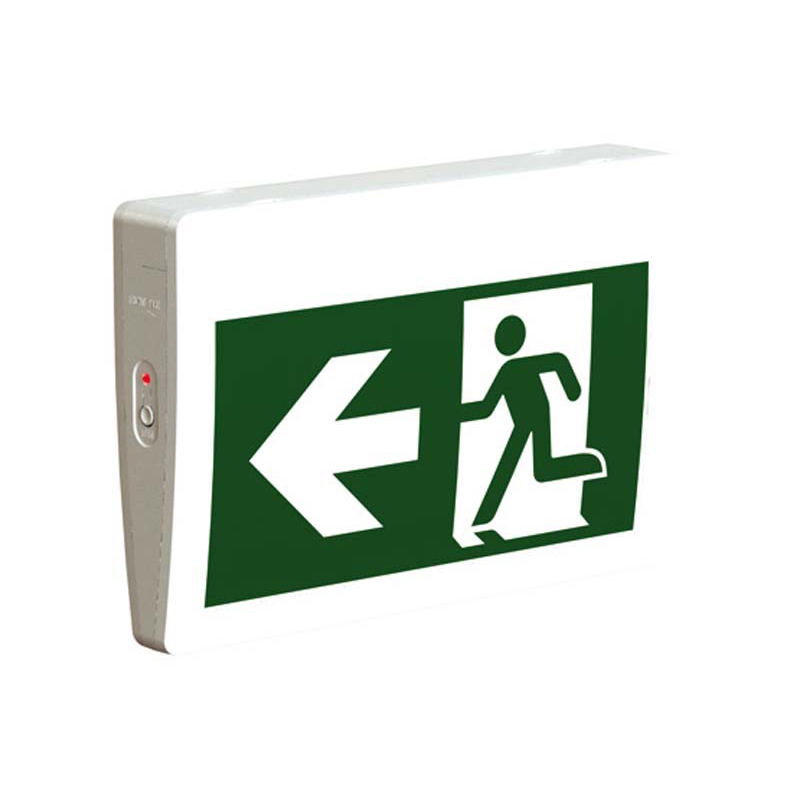 Product Photo of RMPN0WH-IB - Stanpro Running Man/Pictogram Sign - Plastic, Self-Powered