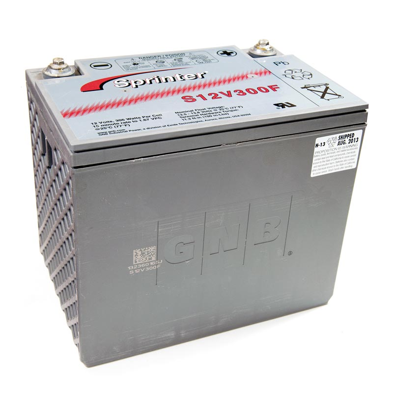 Product Photo of NA-S-12V-300F - EXIDE SPRINTER S12V300F (FLAME RETARDANT) SEALED LEAD ACID BATTERY