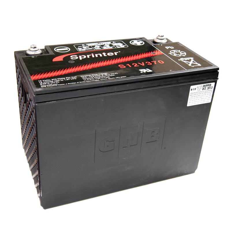 Product Photo of S-12V-370 - EXIDE SPRINTER S12V370 SEALED LEAD ACID BATTERY