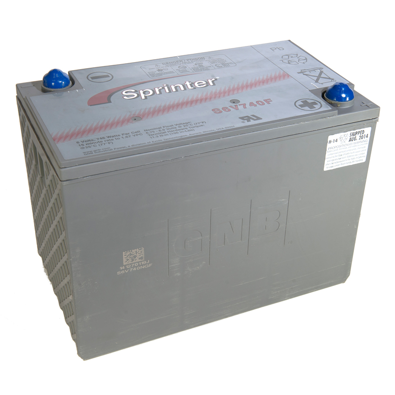 Photo of S6V740F - EXIDE SPRINTER S6V740F SEALED LEAD ACID BATTERY
