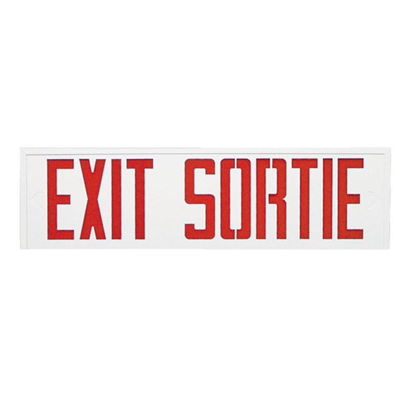 Photo of SLESS-SLSES-Series - Stanpro BILINGUAL Exit/Sortie Signs- Steel