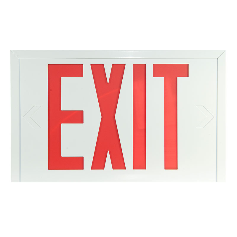 Photo of SLEXSC0WH-IB - Stanpro Exit sign-Steel, self-powered