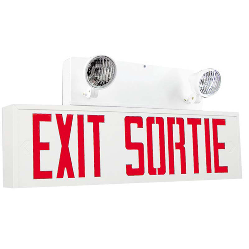 Photo of SPESS-SPSES-Combo - Stanpro Exit/Sortie emergency lighting Combination units-STEEL