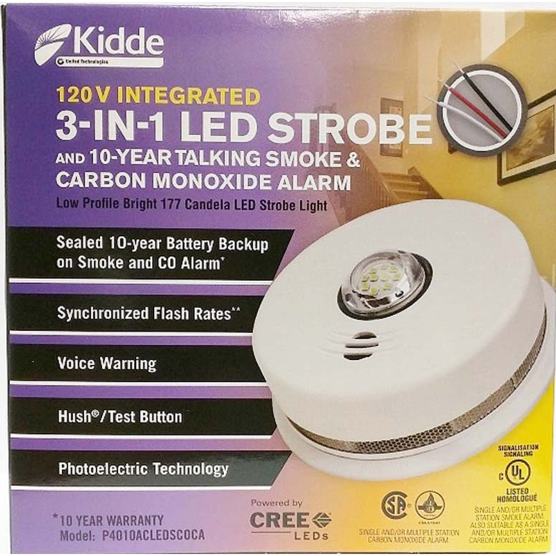 Photo of KIDDE-P4010ACLEDSCOCA - Kidde P4010ACLEDSCOCA 120V Smoke/CO Strobe Light