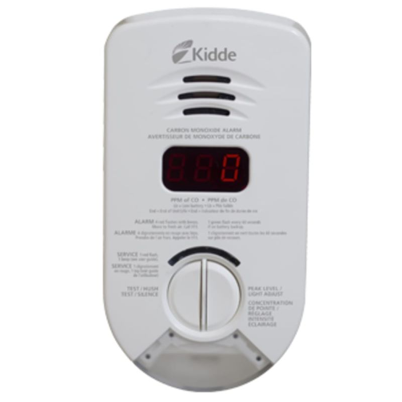 Product Photo of Kidde-900-0284CA - Kidde 900-0284CA AC Plug-in Digital CO Alarm with LED Nightlight and 10-Yr Battery Backup