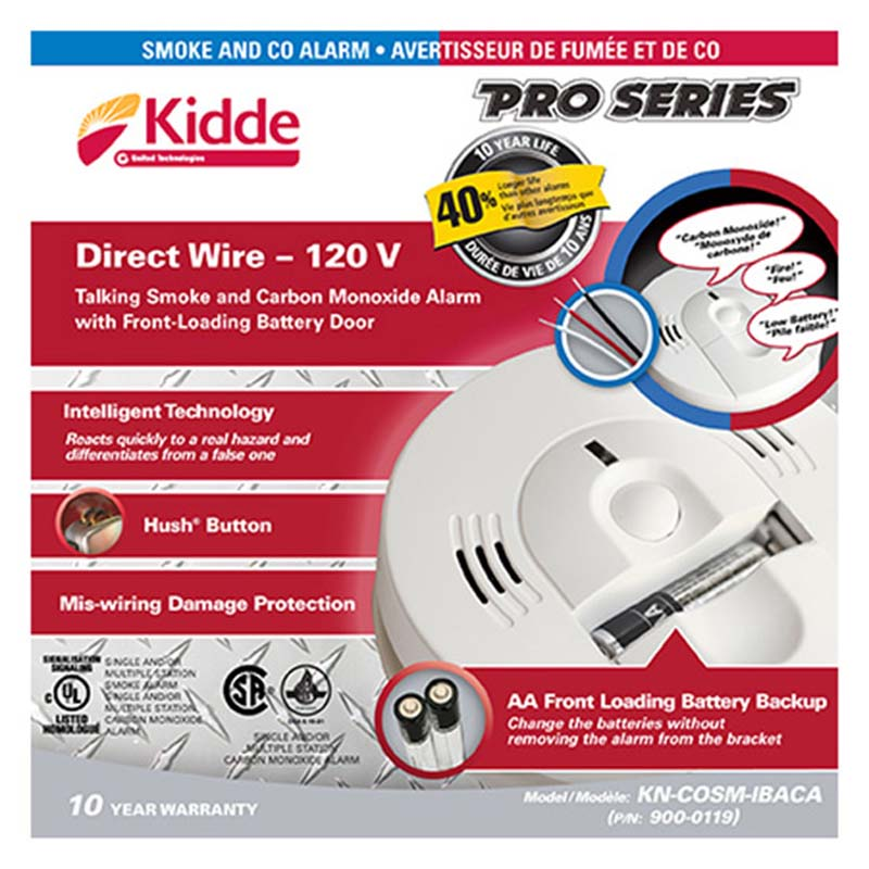 Product Photo of KIDDE-900-0119 - Kidde 900-0119 Smoke/CO Combo 120VAC C/W BBU