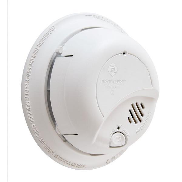 Product Photo of BRK-9120BA - BRK 9120BA 120VAC Ionization Smoke Alarm C/W BBU