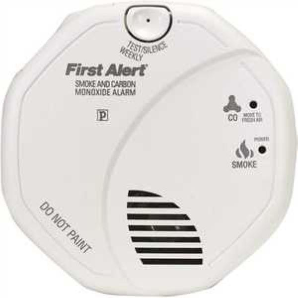 Product Photo of BRK-SC7010BVA - First Alert SC7010BVA 120V AC/DC Photoelectric Smoke and CO Alarm with Battery Backup and Voice