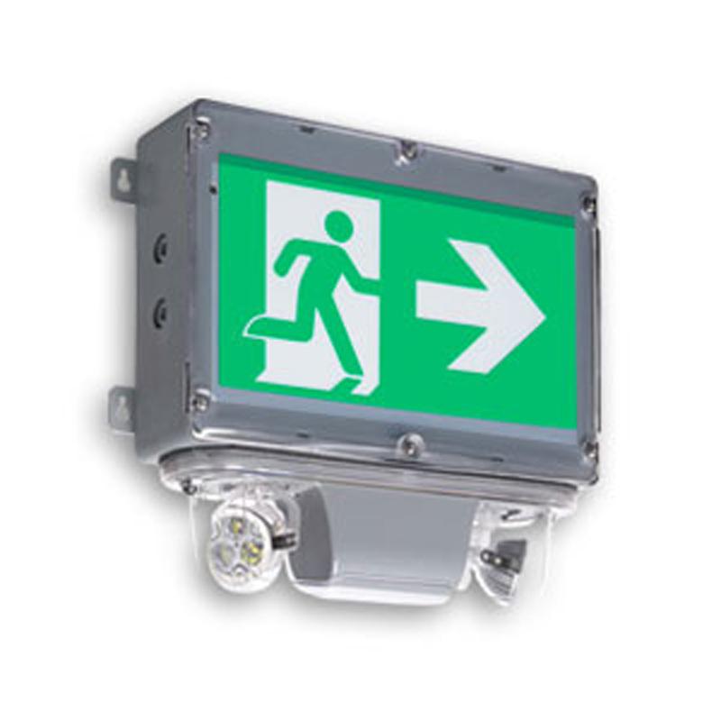 Product Photo of NA-EHC-LCH-Series - Emergi-Lite/Lumacell Running Man/Pictogram Combination Units - Hazardous Series