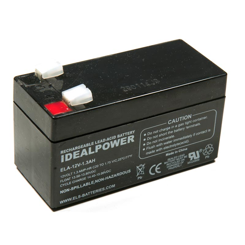 Product Photo of ELA-12V-1.3AH - IDEALPOWER 12V 1.3AH SEALED LEAD ACID BATTERY