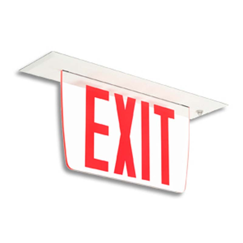 Product Photo of EX3F-LER23F-Series - Emergi-Lite/Lumacell Exit sign-EDGE-LIT low profile