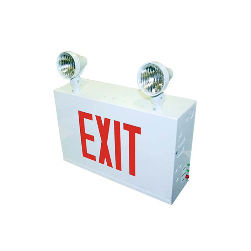 Product Photo of EXSLC-Combo - Stanpro 12V Exit/Emergency lighting Combination units - UNIBODY STEEL