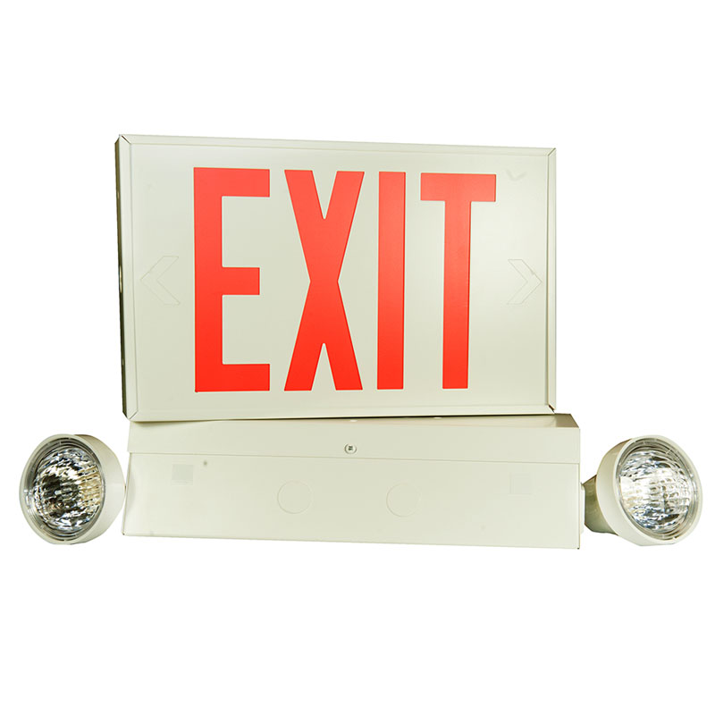 Product Photo of LPEX10W-LXM7-2M - Emergi-Lite/Lumacell 6V 72W Exit/Emergency Lighting Combination-LOW PROFILE