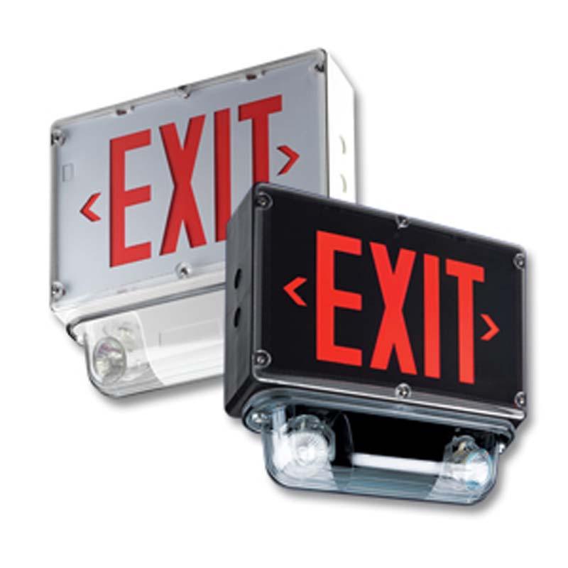 Product Photo of LPEX600N-3LER3000-Combo - Emergi-Lite/Lumacell Exit/Emergency Lighting Combination-NEMA4X/WEATHERPROOF