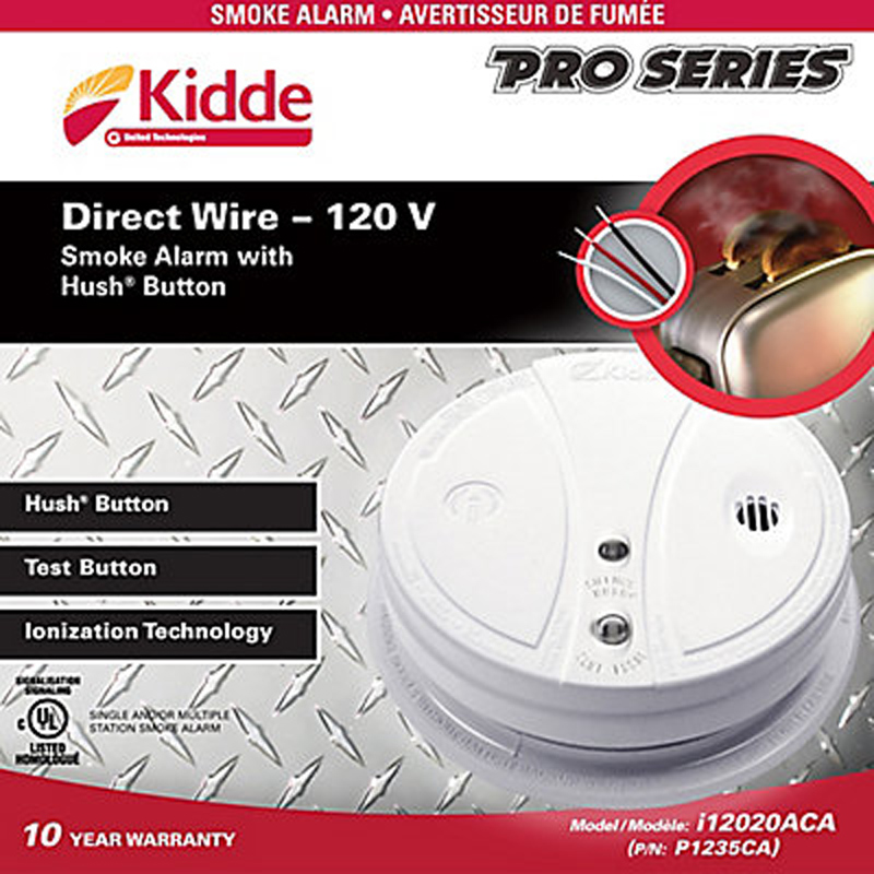 Product Photo of KIDDE-P1235CA - Kidde P1235CA Smoke Alarm 120VAC Only