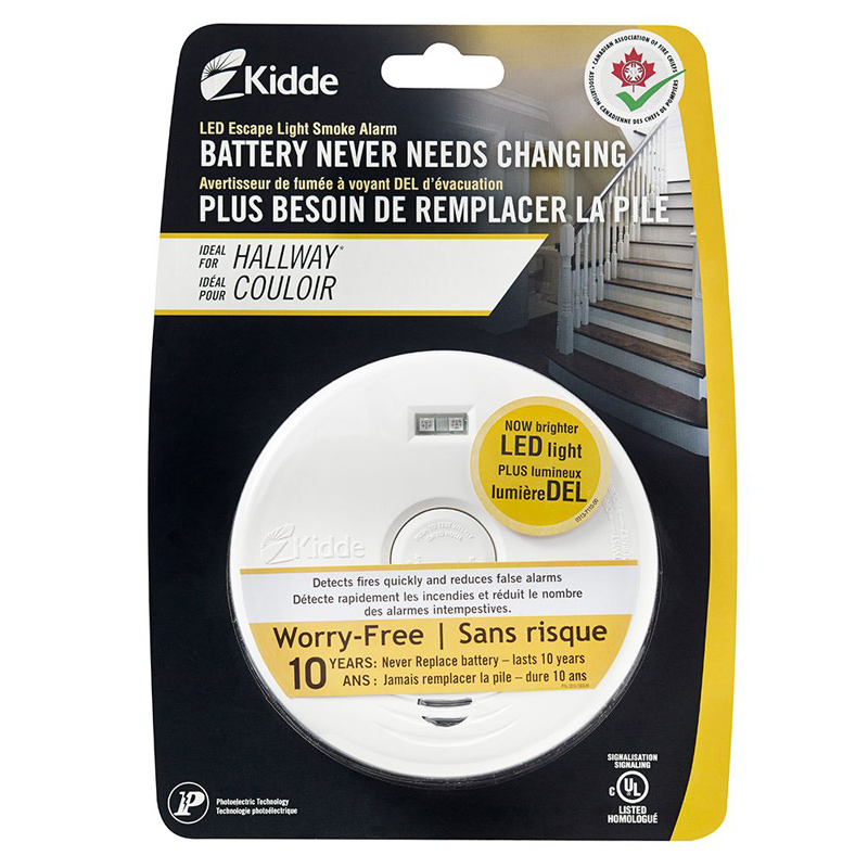 Product Photo of KIDDE-P3010H-CA - Kidde P3010H-CA Smoke Alarm W/ ESCAPE LIGHT & Battery