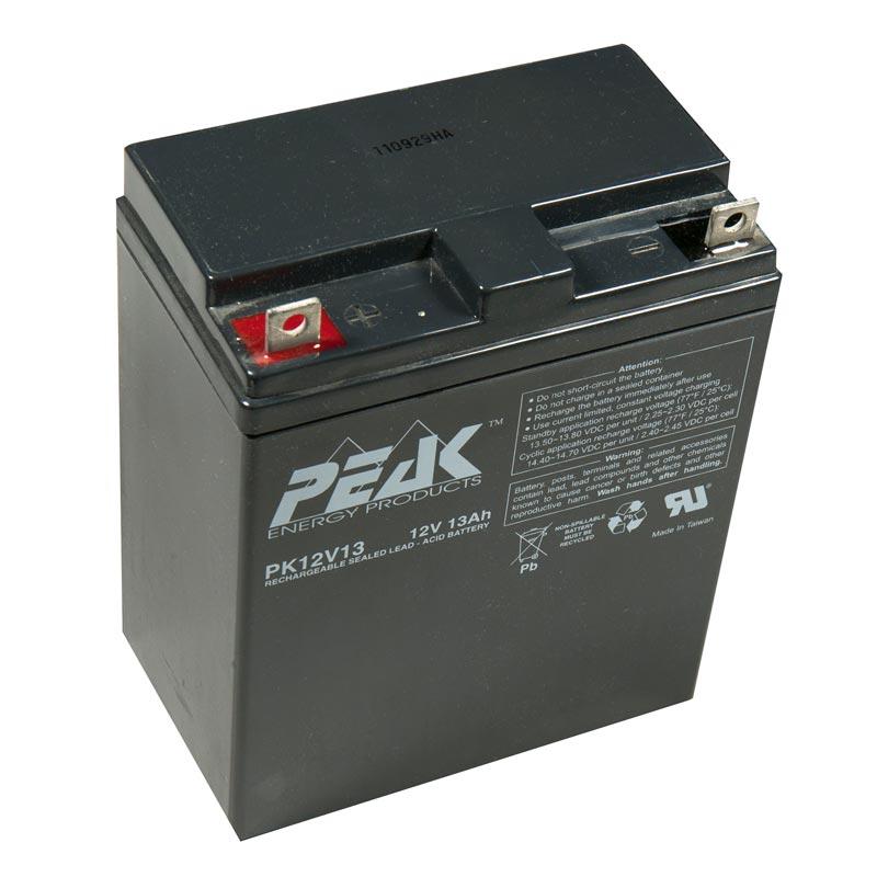 Product Photo of PK-12V-13AH - Edwards Peak 12V 13AH SEALED LEAD ACID BATTERY