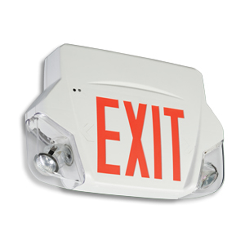 Product Photo of Premier-Grande-Combo - Emergi-Lite/Lumacell Exit/Emergency Lighting Combination- PLASTIC