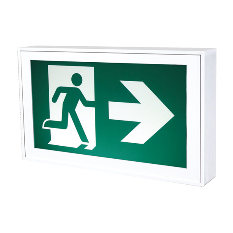 Product Photo of RMS0WH-IB - Stanpro Running Man/Pictogram Sign - Steel, Self-Powered